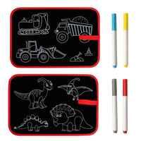 Portátil tiza blanda de libro de dibujo para colorear libro dinosaurio coche pizarra de DIY dibujo