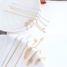 2pcs copper plated hooks earrings ear hook hypoallergenic  for women diy jewelry findings components accessories