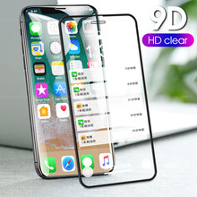 9D Tempered Glass Film For iPhone XS Max XR 7 8 Plus 6 6s X Screen Protector For iPhone 6 S PLUS XS Shockproof clear glass(China)