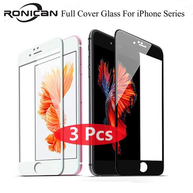 3Pcs Volle Abdeckung Abdeckung Gehärtetem Glas Für iPhone X XS Max XR 11 Pro Max 6 6s 7 8 Plus 5 5S SE Screen Protector Schutz Film