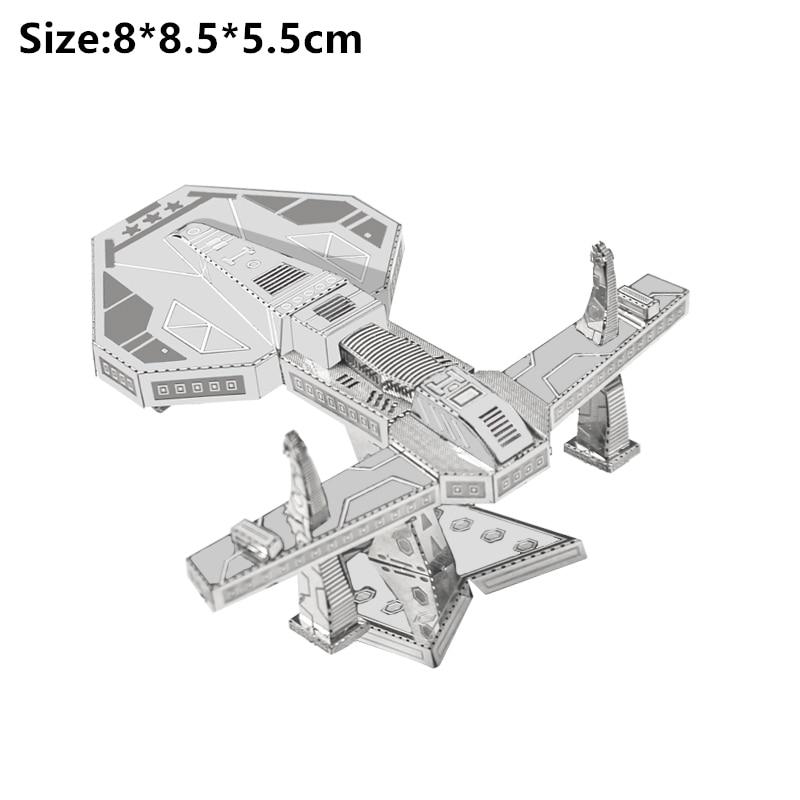 3D Metal Puzzle Model Kit DIY Stainless Steel Starship DOCTOR WHO TARDIS Animal Ship Adult Jigsaw DIY Jigsaw Manual Gift Toys 21