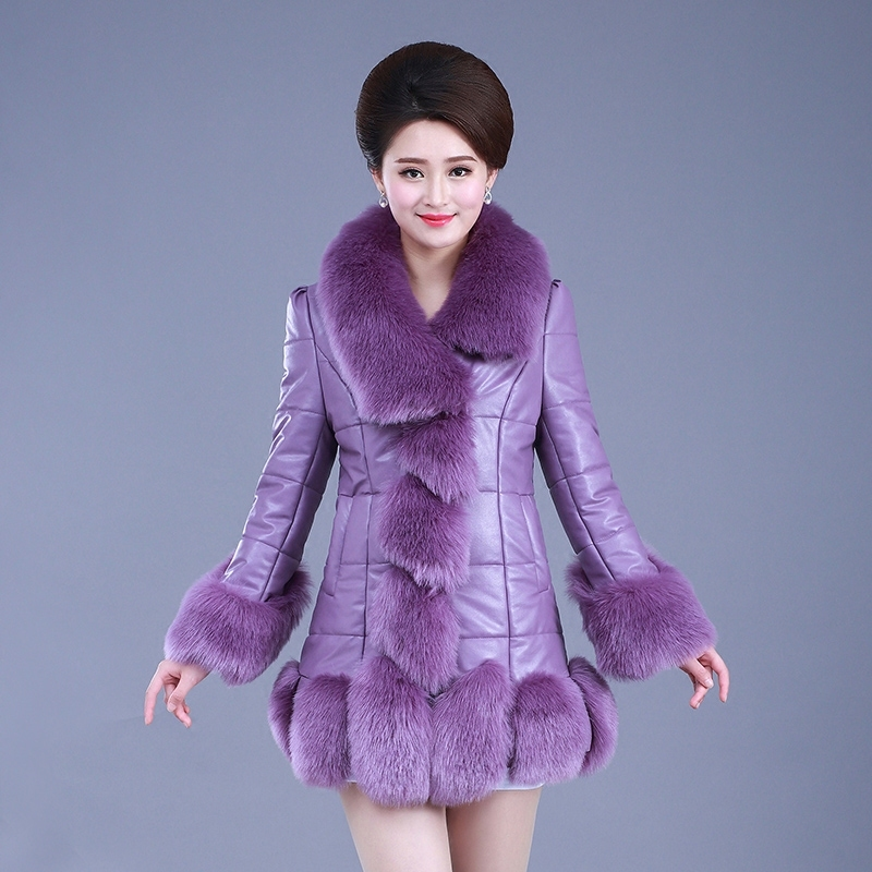 Winter Coat Women Faux Fur Coat Plus Size Women's Jackets Faux Leather Jacket Woman Coats Chaquetas Invierno Mujer KJ308