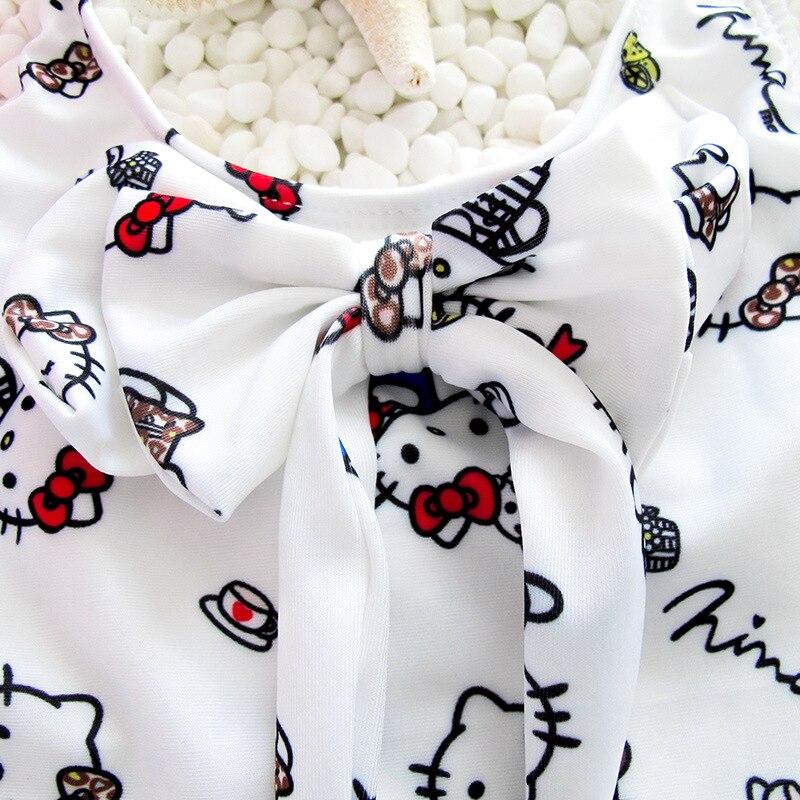 CHILDREN'S Swimwear Girls Small CHILDREN'S Baby Cartoon KT Cat Dress Bathing Suit Special Offer Swimwear