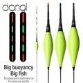 DONQL 1 шт. светодиодный электронный поплавок ночного видения буй день и ночь смелый аккумулятор x2 высокое качество рыболовные аксессуары