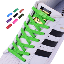 No-Tie Shoelace Lazy-Lace Metal-Lock Elastic Flat-Color Sports-Competition All-Shoes