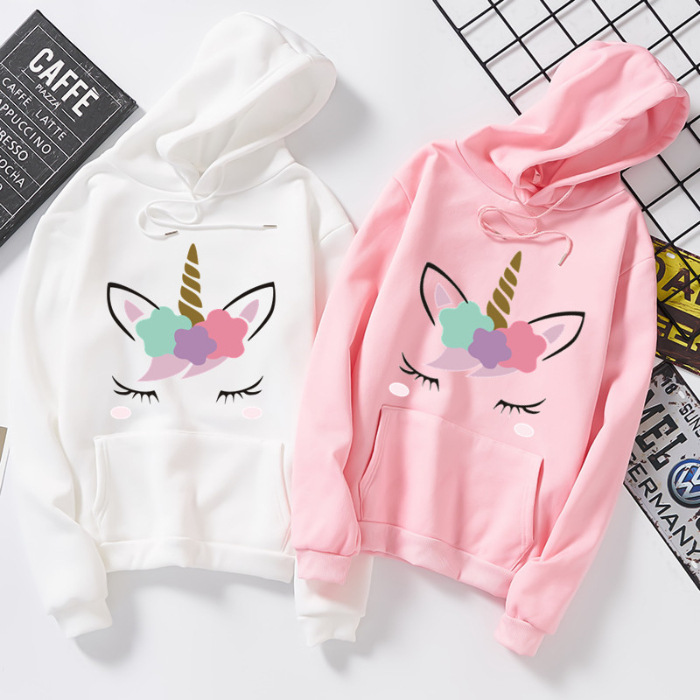 2020 Women Shirt Coat Autumn Winter Sweatshirt Animal Unicorn Hoodies Spring Shirts Women Men Couple Shirt Top Tees S-3XL