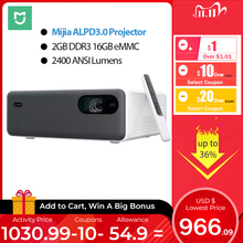 Xiaomi Mijia ALPD3.0 Laser Projector 2400 ANSI Lumens 1920*1080P  MIUI TV 16GB eMMC Wifi Bluetooth Dual 10W Speaker Home Theater