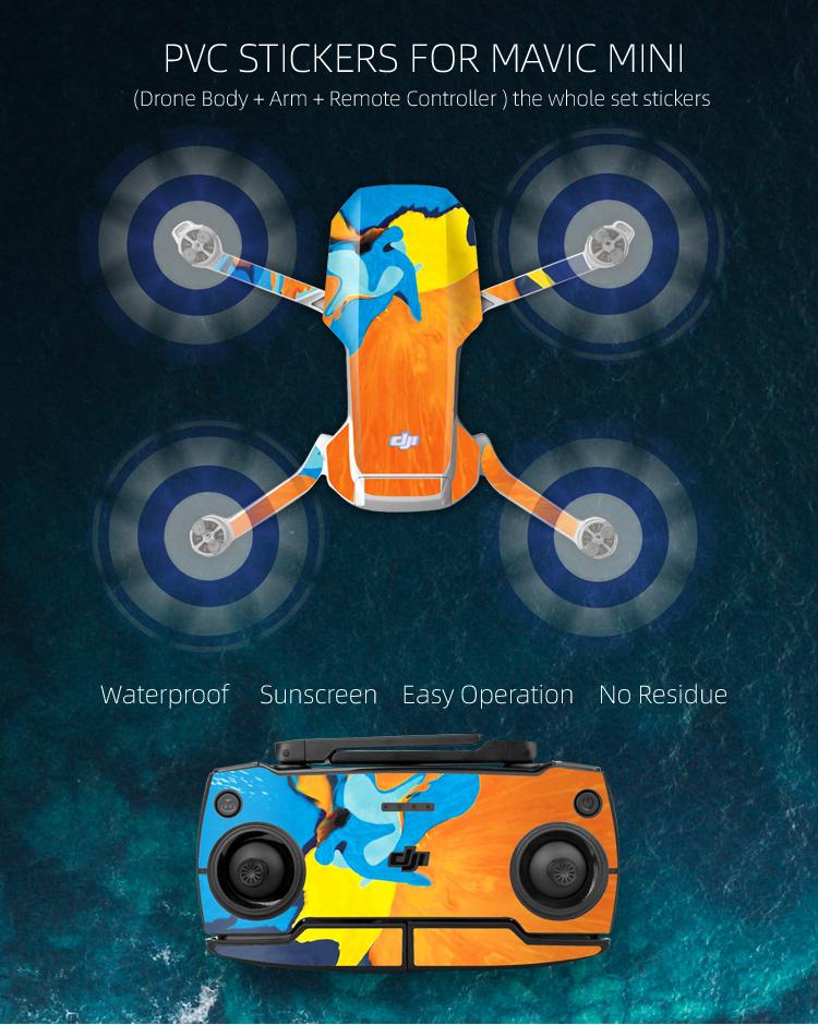 Original DJI Mavic Mini Drone DIY Creative Kit Sticker Set Hand ...