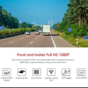 Image 2 - 2020新A129デュオirフロント & インテリアデュアルダッシュカム車のカメラ5 1.2ghzのwi fiフルhd 1080pバッファ駐車モードユーバーlyftタクシー