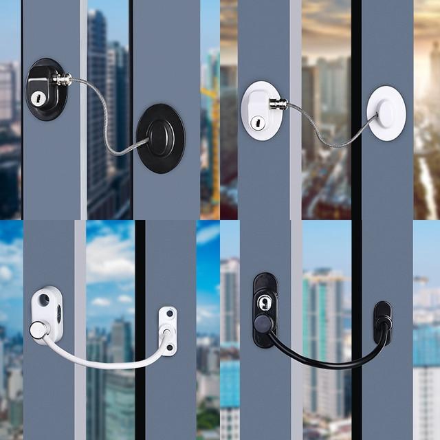Home Child Protection Baby Window Lock Baby Safety Limiter For Windows Children's Lockers Door Lock,Children's Lock for Drawer 2