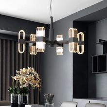 Modern Curly Leaf Acrylic Led Chandelier Lighting Black Metal Living Room Led Pendant Chandelier Lights Dining Room Hanging Lamp led chandelier living room dining room lamp modern acrylic lamp lamparas de techo colgante moderna pendant lights abaju