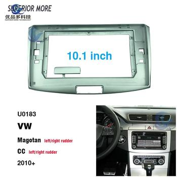 2 din 10.1 inch car radio Fascias for VW Magotan CC 2010 Dashboard Frame Installation dvd gps mp5 android Multimedia player image