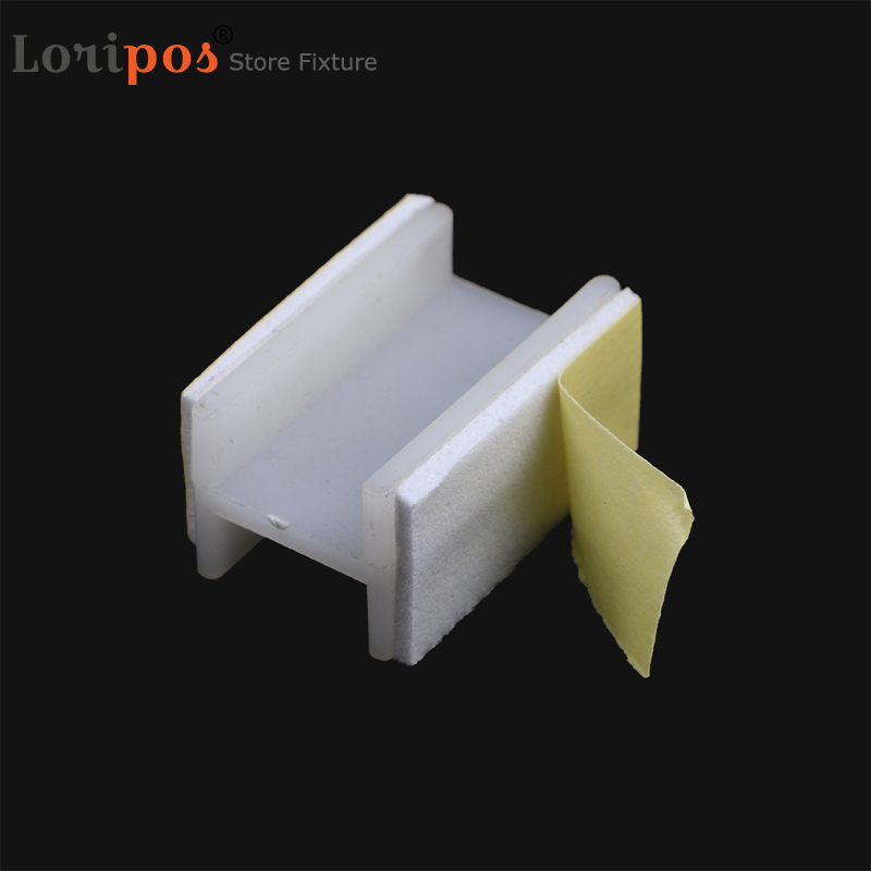 H Small Self Adhesive Double Foam Tape Shelf Mount Promotion Sign Cardboard Holder Bracket Papercard Board Connection Standee