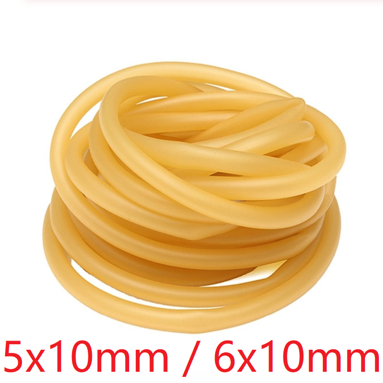 ID 5mm 6mm X 10mm OD Nature Latex Rubber Hose Flexible Pipe High Resilient Elastic Surgical Medical Tube Soft Slingshot Catapult