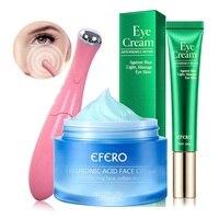 Anti-Oxidation Brighten Face Cream Shrink Pores Hyaluronic Acid Moisturizer Cream Anti Aging Eye Cream Dark Circles Eye Massager 2