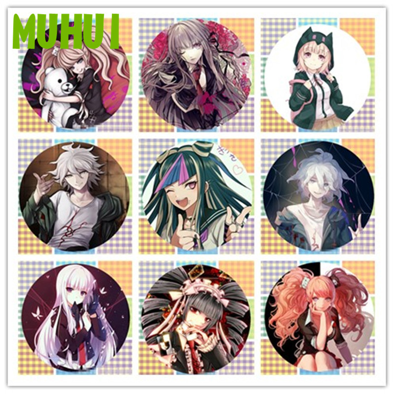 1pc Anime Danganronpa Brooch Pin Badge Accessories For Clothes Backpack Decoration Free Shipping Children's Gift B002