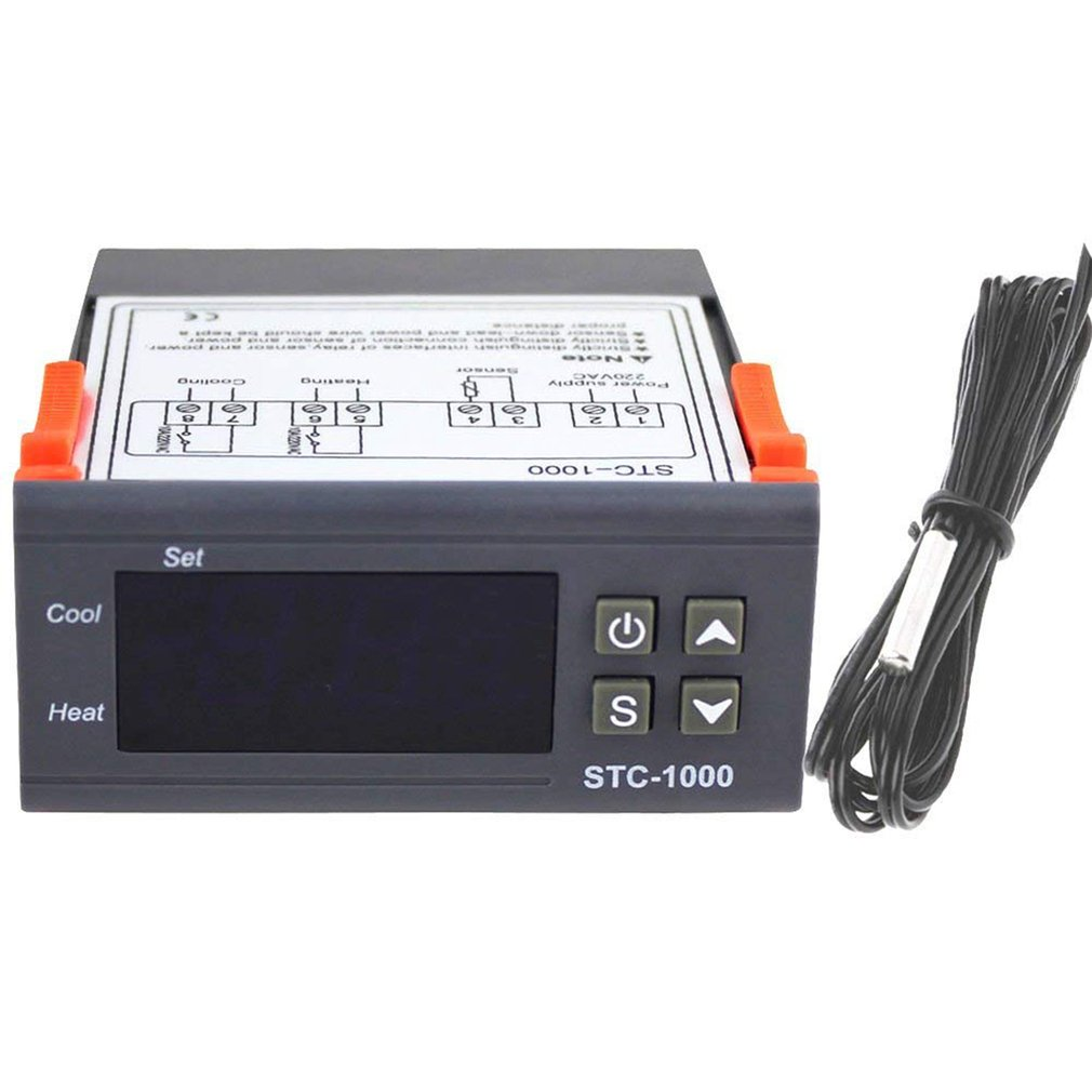 STC-1000  Professional Digital All-Purpose Temperature Controller Thermostat Aquarium With Sensor Probe Cable