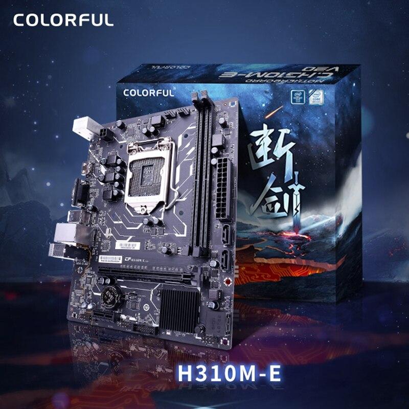 Placa base V20A de H310M-E colores, doble canal, DDR4 RAM, USB 3,0, SATA3.0, 6 Gb/S para interfaz tel LGA 1151, serie Coffee lake-s Procesador Intel Core™I5-8400 2,8 Ghz 9 MB LGA 1151 caja