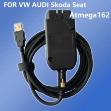 Testadores automáticos 20.4.2 vagcom 19.6.2 hex v2 interface usb para vw audi skoda seat vag 19.6.2 multi-idioma atmega162 + 16v8 + ft232rq