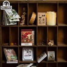 Г-н бумаги, 12 дизайнов коллекции года письмо площади скрапбукинг/создания карты/журнала DIY проект hangtag с карты