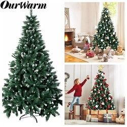 OurWarm 6ft Gefälschte Künstliche Weihnachten Bäume Mit Schnee Strömten Weihnachten Baum Dekorationen für Haus Neue Jahr 2020 Grün Baum