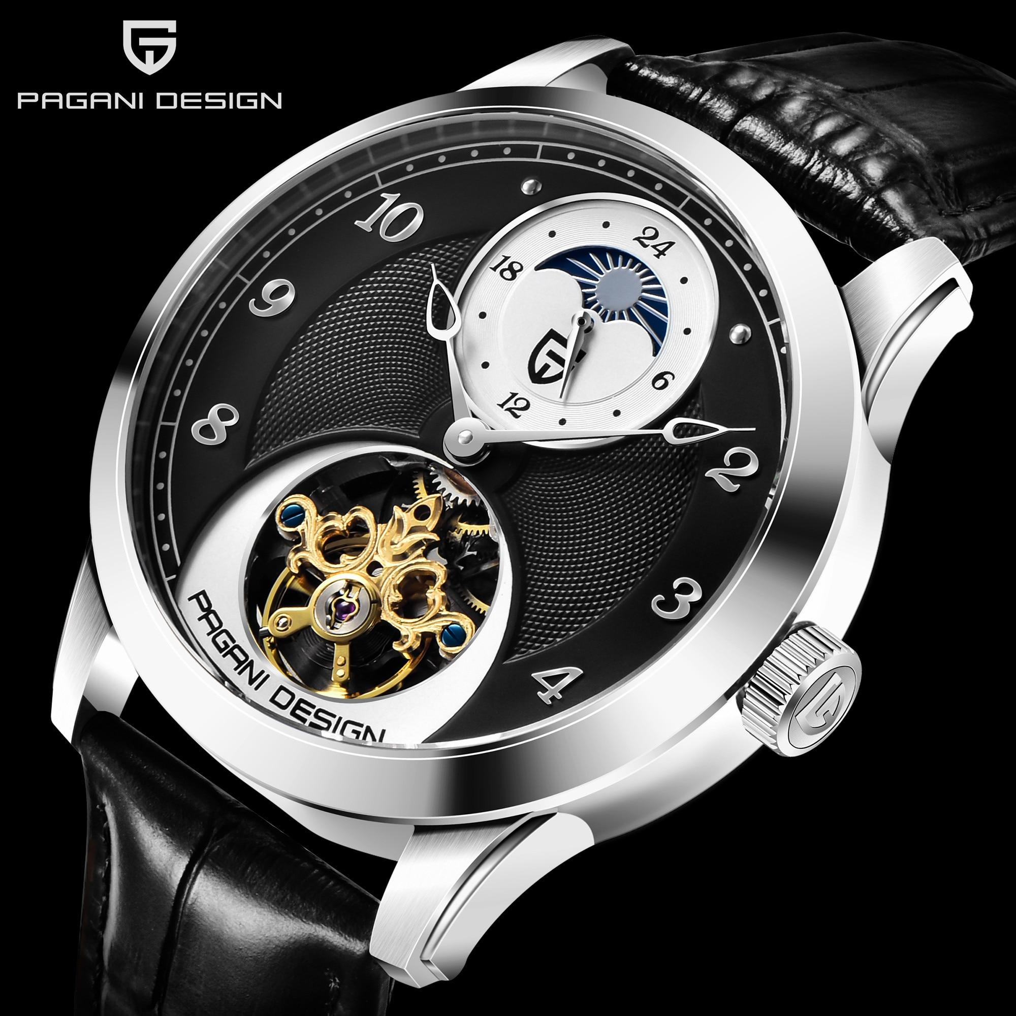 Men's Watches Luxury Brand PAGANI DESIGN Automatic Mechanical Watches Men Business Waterproof Gold Wrist Watch Relogio Masculino