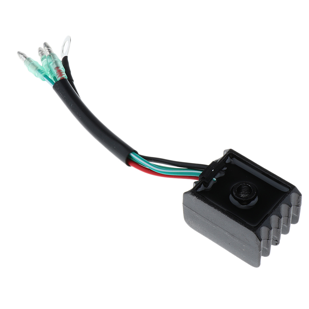 Outboard Rectifier Voltage Regulator For Yamaha 15/30/40/60  Engine, Black