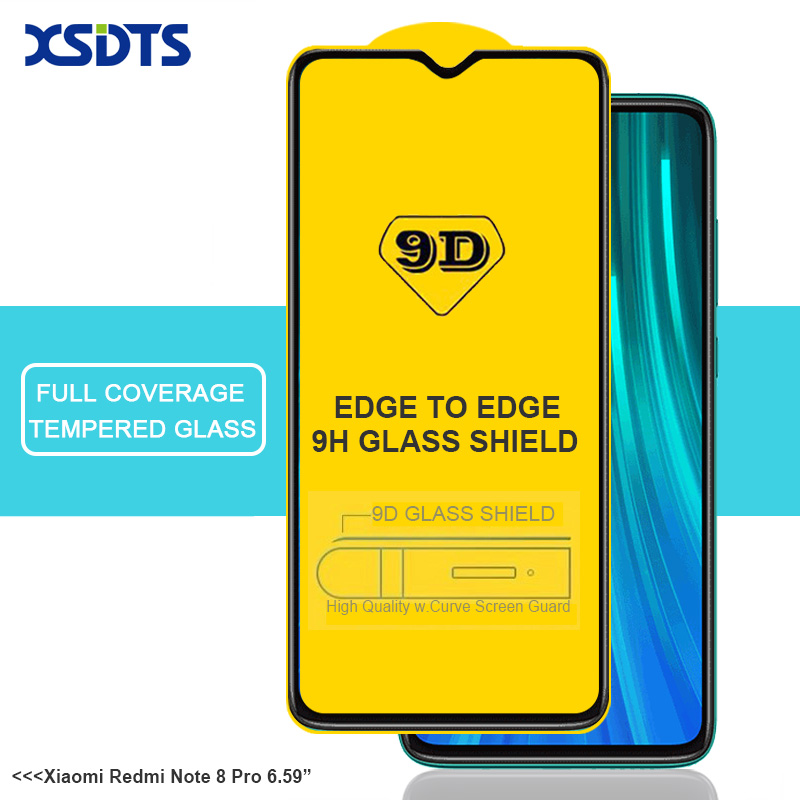 9D Tempered Glass For Xiaomi Mi 8 9 MI8 MI9 SE Lite Redmi Note 8 8A K20 9T 7 7A Go Pro Full Cover Glue Screen Protector