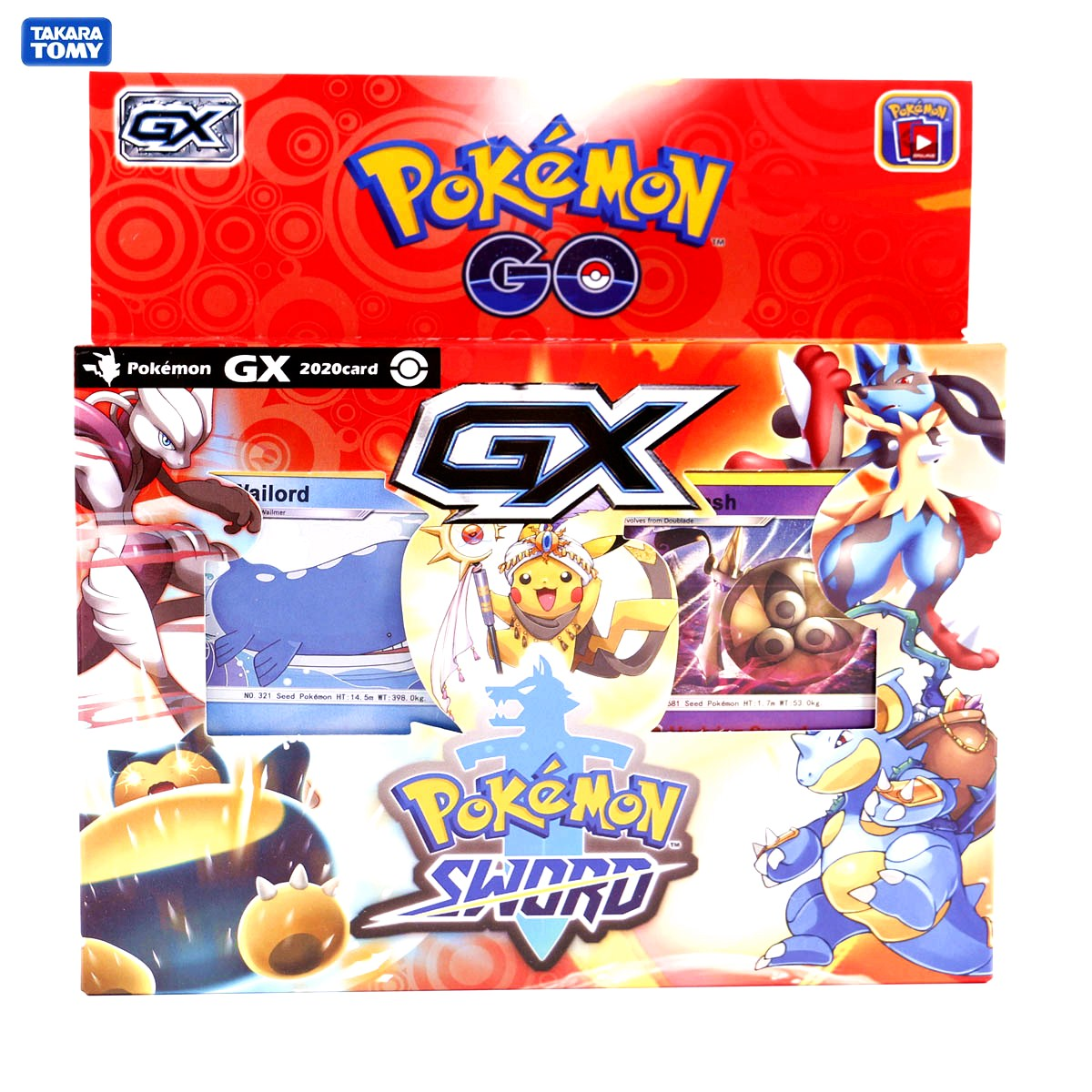TOMY Pokemon 2020 Latest 54 Card Solitaire Pokemon Card Sword And Shield Box Trading Card Game Kids Collection Toys Gift