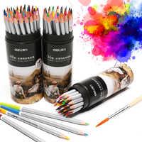 Deli 24/36/48 couleurs aquarelle Crayon ensemble cylindre bois Couleur dessin crayons De Couleur arc-en-ciel école Crayon De Couleur