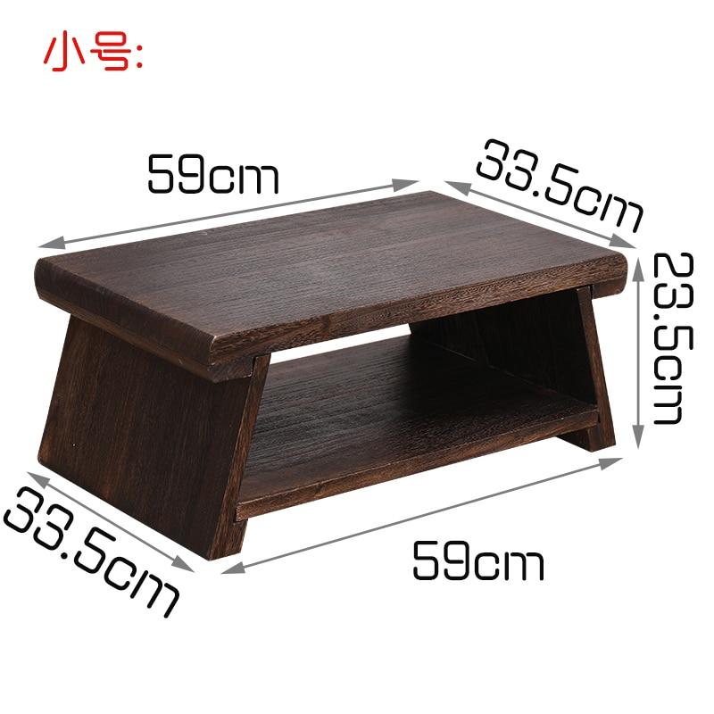 Mesa de centro de madera maciza rectangular moderna y creativa mesa de centro plegable mesa de centro de madera maciza - 4