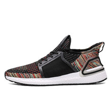 2019 New Design Preto Mens Running Shoes Ultraboost Único Flyknit Formadores Sneakers Sapatos Para Homens zapatillas hombre deportiva(China)