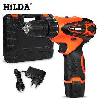 HILDA Cordless Screwdriver Electric Drill Lithium Battery  Mini Drill Cordless Screwdriver Power Tools Cordless Drill cordless drill screwdriver status csl12 2 li