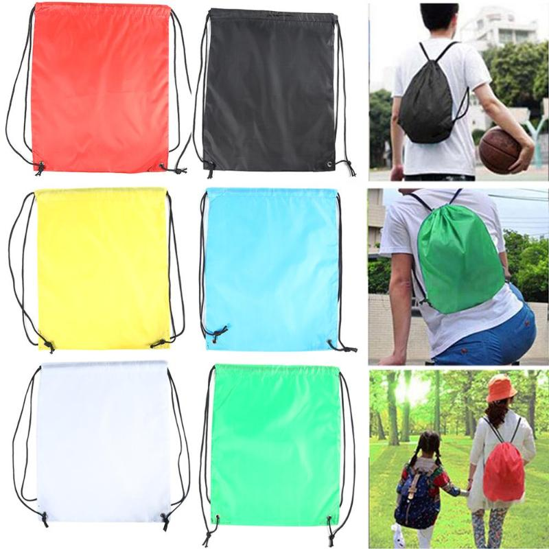 1PC Men Women Large Big Holdall Gym Bag Outdoor Sports Waterproof Drawstring Backpacks Storage Rucksack Knapsack Hot Sale
