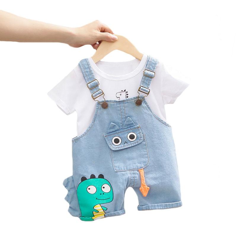 Lawadka Baby Boy Clothing Sets Infants Newborn Boy Clothes Shorts Sleeve Tops Overalls 2Pcs Outfits Summer Cartoon Clothing 2020
