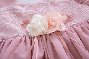 Image 5 - Pettigirl, venta al por mayor, Boutique de verano, fiesta de cumpleaños, vestido de flores para niña bebé con diadema, G DMGD203 D63