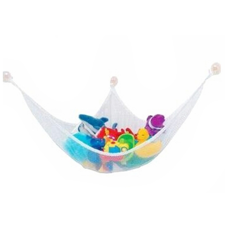 White Practical Toys Hammock Keep Baby Playroom Tidy Storage Baby Toy Holder 140*90*90cm