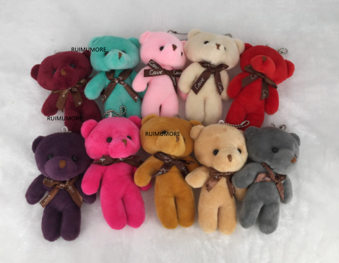 1PCS Stuffed Plush Lovely Teddy Bear Soft Gift Doll Baby Toy 10cm Stuffed Animal