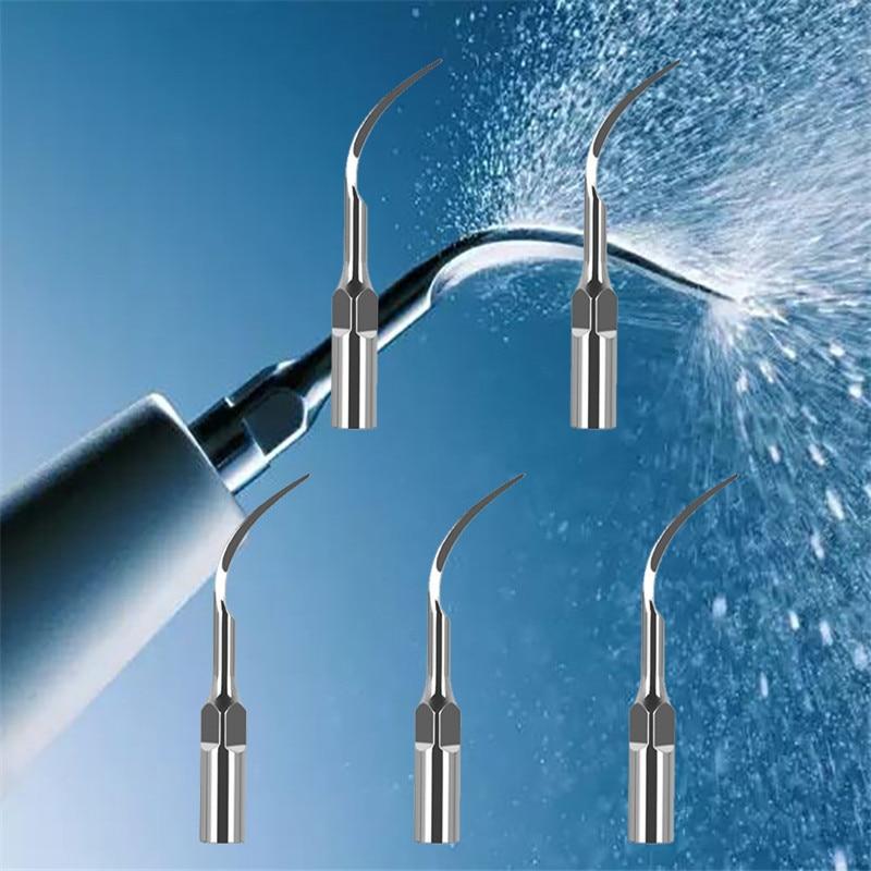 5pc Dental Scaler Tips For EMS DTE Woodpecker Scaler Handpiece Dental Ultrasonic Scaler Scaling Tip Dental Equipment Dentist
