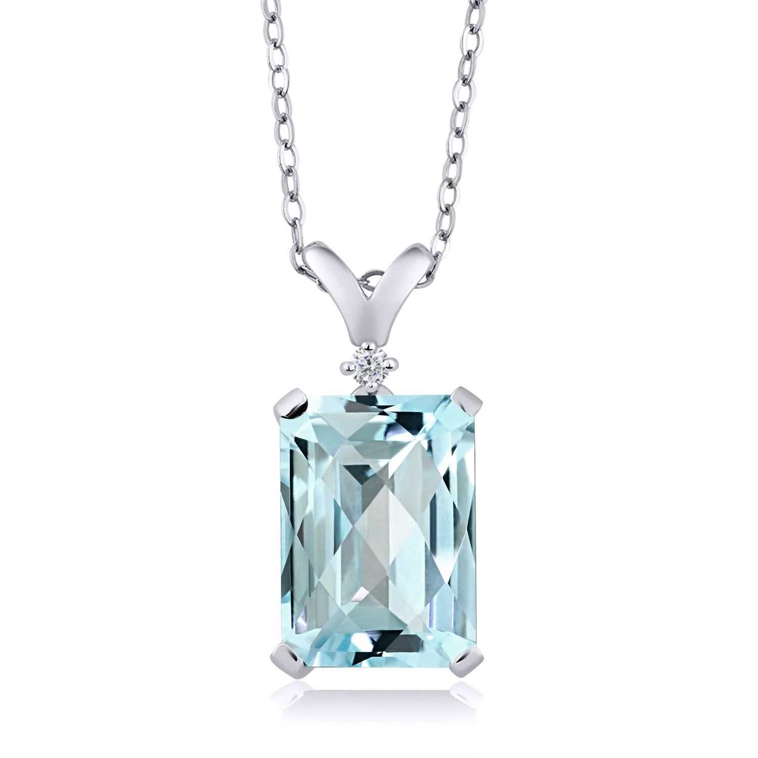 Snap-7x5mm-8x6mm-10x8mm Pendant-Setting Sterling Silver USA 4 Prong-Octagon
