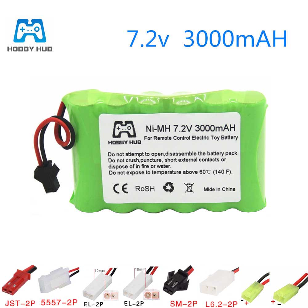 Hobby hub 7.2v AA 3000mah 2800mah rechargeable battery for Remote control electric toy boat 7.2 v 2400 mah aa nimh battery