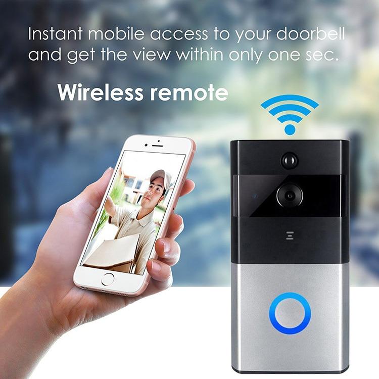Intercom Video Doorbell Wireless WiFi Smart Camera IP Home Monitor Night 720P Door bell Two-Way Audio APP Control iOS Android