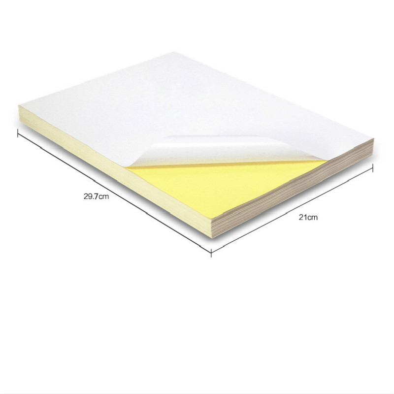 50 Pcs/packet A4 Laser Ink-jet Adhesive Printing Paper Laser Ink-jet Office Paper Smooth Blank Self-adhesive Label Paper