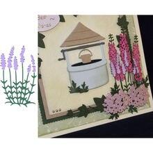 Цветочный шаблон лаванды металлические Вырубные штампы фотоальбом