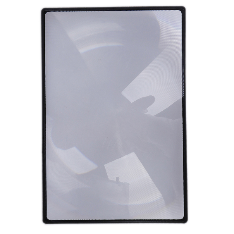 X3 Book Page Magnification 180X120mm Convinient A5 Flat PVC Magnifier Sheet Magnifying Reading Glass Lens Freeshipping