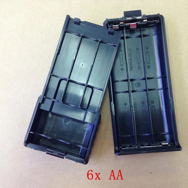 Extended 6xAA Battery Case Shell Box For Baofeng BF-UV5R,5RE,5RB,TYT TH-F8,TONFA TF-UV985 Etc Walkie Talkie