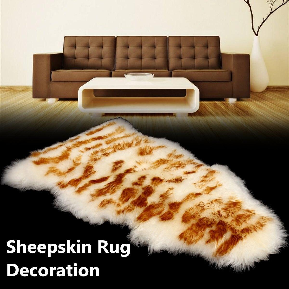New 75*200cm Imitation Sheepskin Rug Woolen Sofa Carpet Floor Mat Whole Wool Seat Mat Bay Window Living Room Bedroom Blanket
