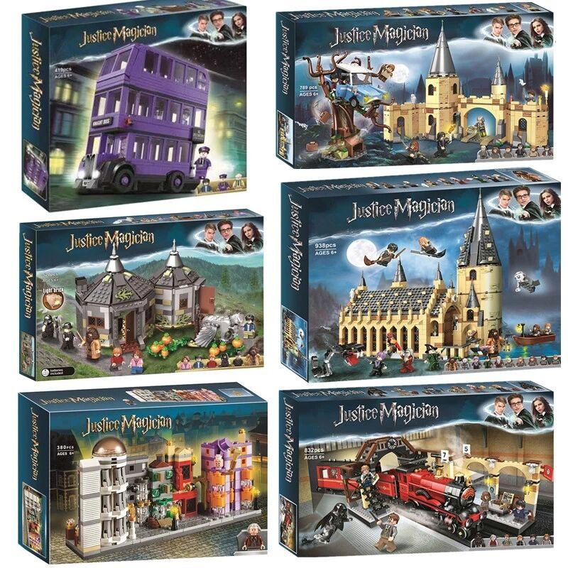 Новый конструктор «волшебный замок», фигурки героев мультфильмов, игрушки, модель мозговой игры, Аниме подарок для детей