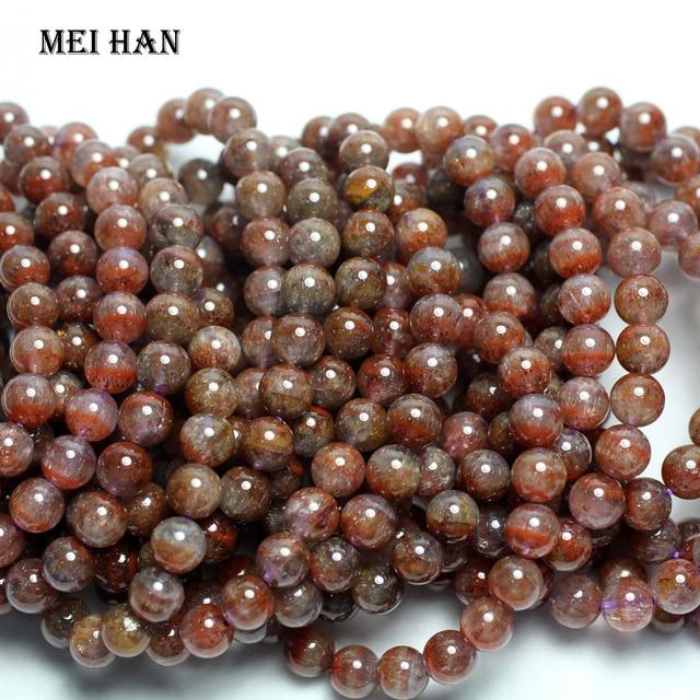 Vente en gros (1 bracelet) naturel 8 8.8mm véritable rare Auralite 23 quartz lisse bracelet rond perles pour la fabrication de bijoux