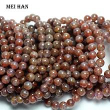 Wholesale ( 1 bracelet) Natural  8 8.8 mm genuine rare Auralite 23 quartz smooth round bracelet beads for jewelry making